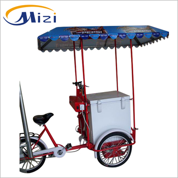 12V Battery solar ice cream bike freezer,electric tricycle,portable freezer
