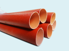 Red Silicone fiberglass Sleeving for hose cable lines protecting