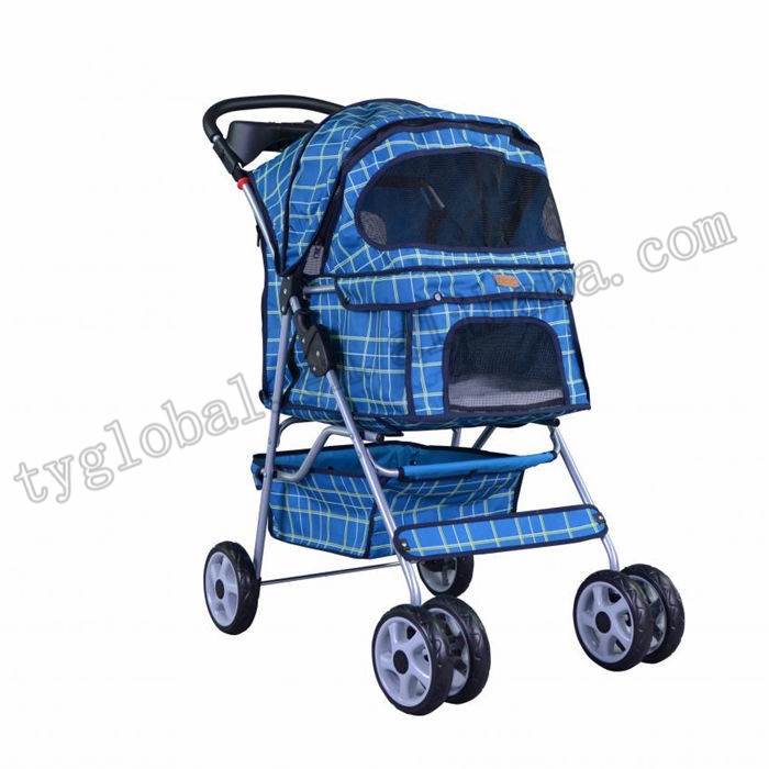 4 Wheels Dog Pet Stroller w/RainCover