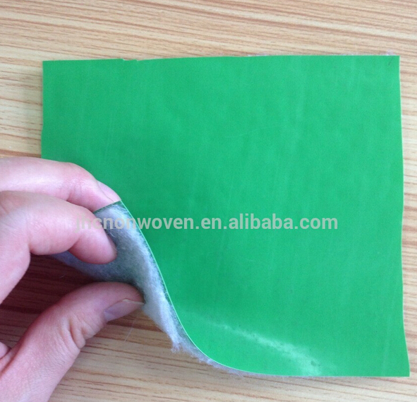 PE/PVC Laminated backing polyester non woven felt fabric in china