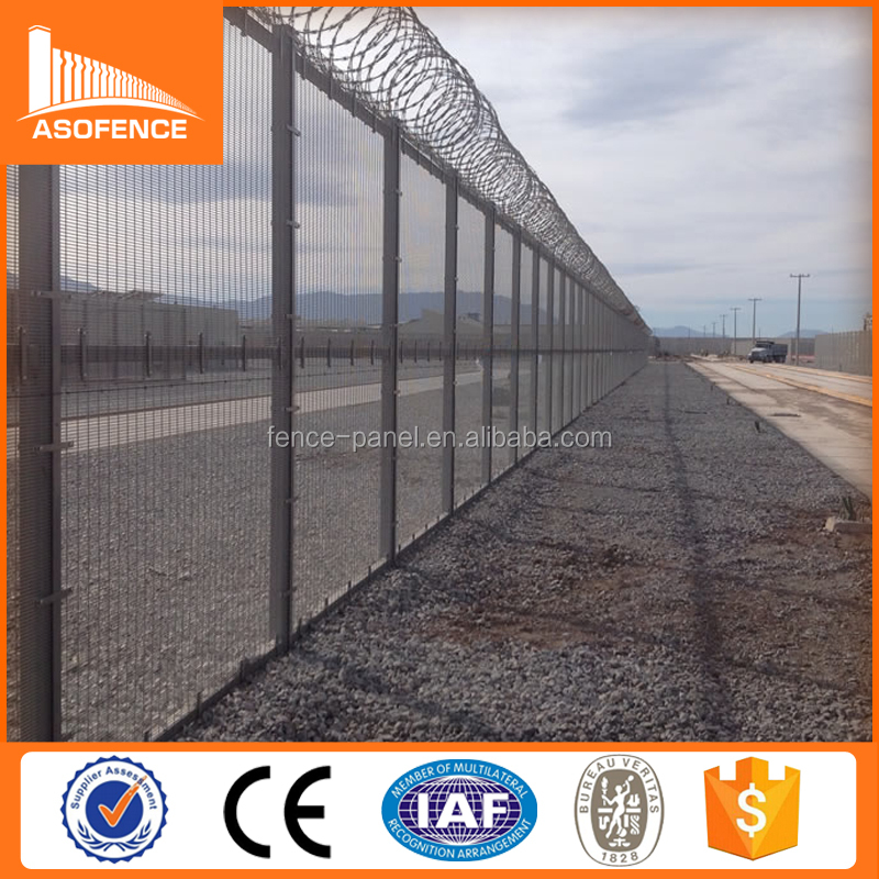 High security anti climb fence topper with razor barbed