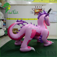 Top Selling Pink Inflatable Chinese Dragon Cartoon Toy From Hongyi