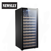 Design 102Bottles Wine Refrigerator built in Electric Wine Cooler cabinet With Glass Door
