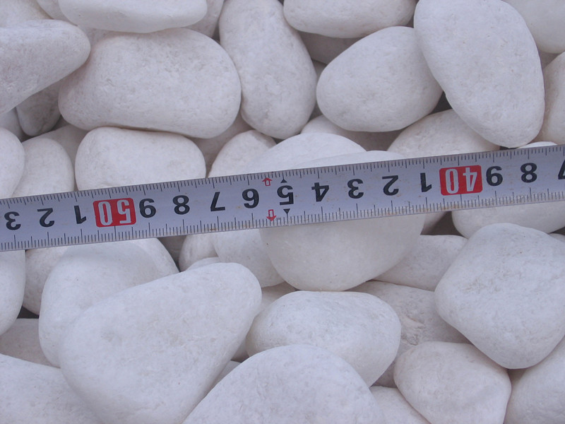 pure white stone,snowy white natural polished pebbles for decoration, river rock for wholesale