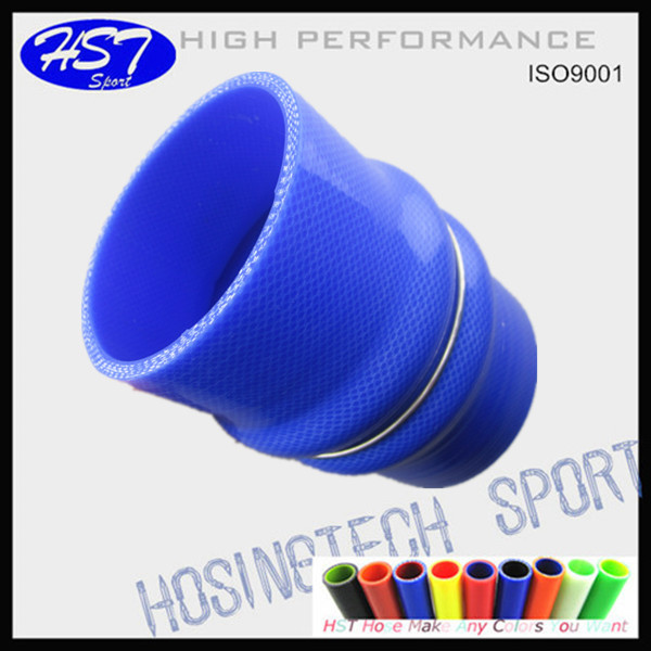 turbocharger flexible double humps silicone induction air intake hose
