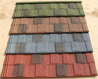 New Sunlight popular colorful stone coated metal roofing tile/decorative building material roofing