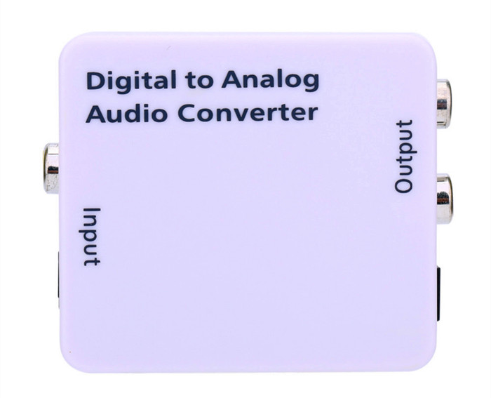 Digital to Analog Audio Converter Adapter RCA Cable USB 2.0 Optical Coaxial Toslink Signal to Analog Audio Converter Adapter