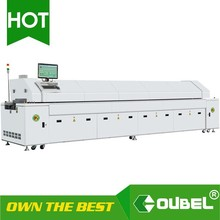 factory product, SMT lead free Reflow oven A600 6 heating zone With PLC Control VS reflow oven