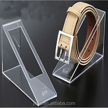 2015 hot selling acrylic belt display for retail