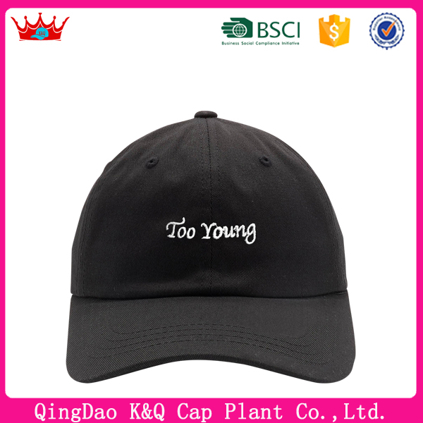 OEM custom promotional embroidered too young baseball hats co ltd