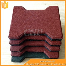 interlocking Rubber Playground Tile/Dogbone rubber paver /walkway brick floor tile Horse Rubber Brick