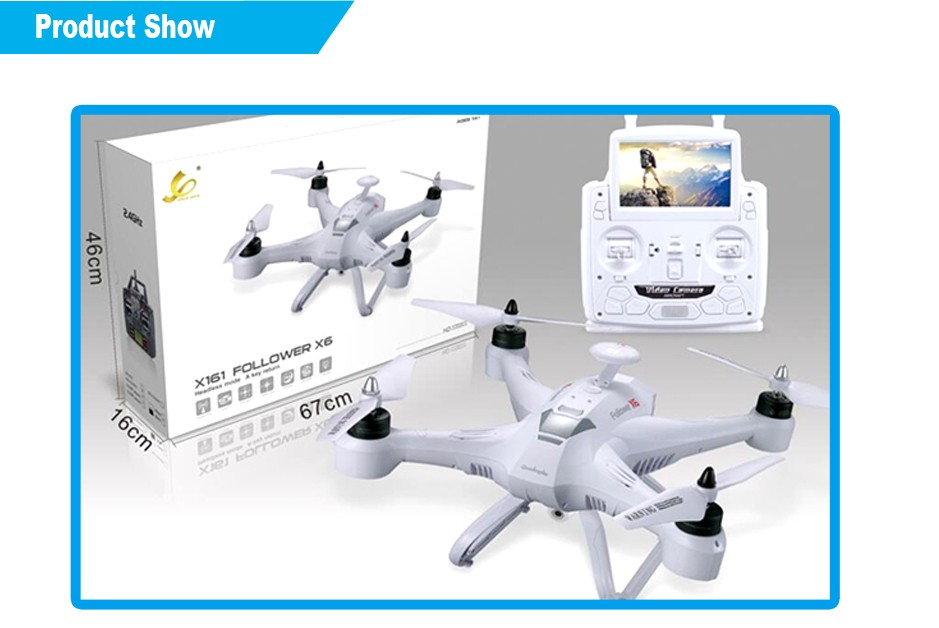 2.4G Real-time transmission drone quadrocopter hover camera drone