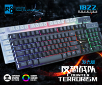 Cool Backlit LED Illuminated Ergonomic usb Wired Gaming keyboard