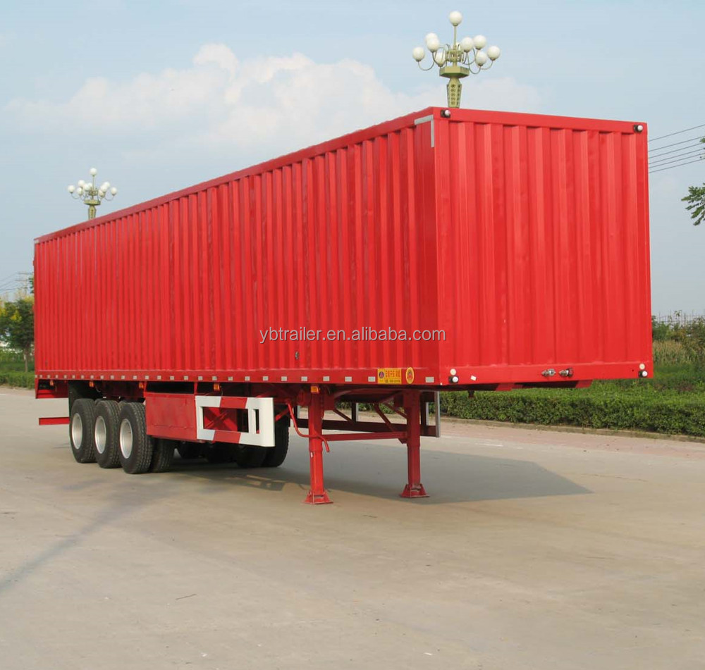 china factory Cargo Box Semi Trailer Used to Carry Goods