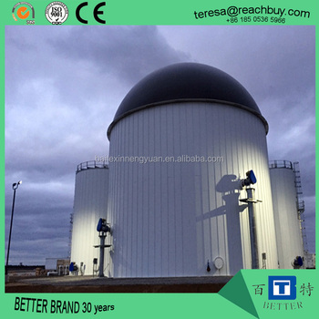Biogas plant Anaerobic fermentation tank biogas digester with double membrane gas holder gas storage bag