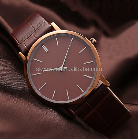 simple high quality men watch,leather watch