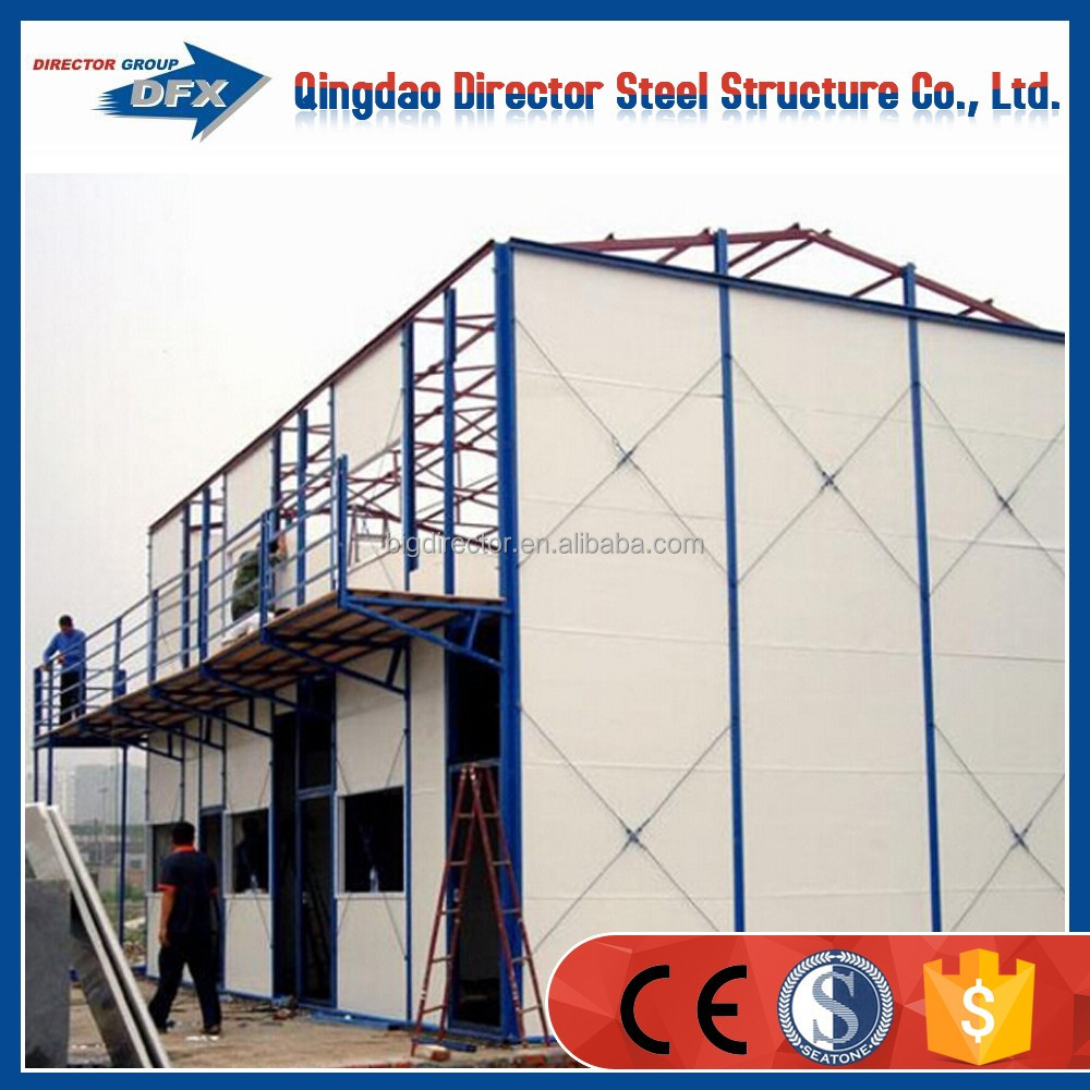 China steel structure low cost modular prefab house plans labor camp