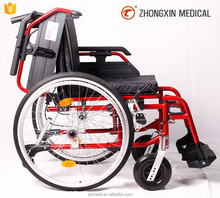 Convenient Wheelchair with quick release real wheel