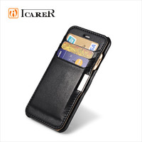 Luxury Leather Flip Cover Wallet Cases for iPhone 6 6s Black