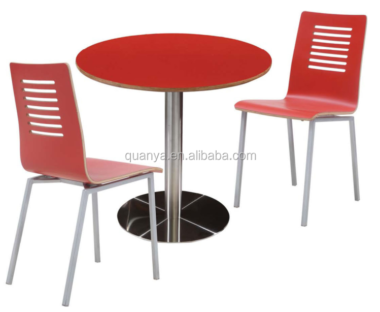 Quanya Kfc Fast Food Restaurant Round Table And Chair For Wholesale Red  Wood Dining Table   Buy Dining Round Table,Kfc Table,Red Round Dining Table  Product ...