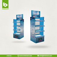 4 Shelf Cardboard Floor Stand display For Sanitary Napkin Retail