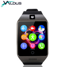 Hot Sale BLE Smartwatch Q18 Android <strong>Smart</strong> <strong>Watches</strong> With SIM Card and Camera Mobile <strong>Watch</strong> Phone For Samsung Galaxy S8