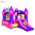 Happy hop Inflatable Castle Bouncer-9017P Castle Bouncer with Slide