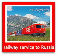 Railway shipment from China to kazakhstan for 40HQ container ---Icy