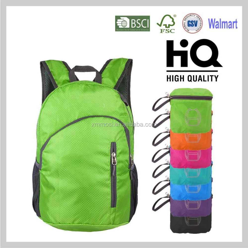 2017 New Products Folding Light Weight Daily School Backpack bag