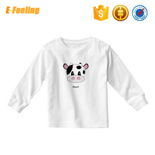 Printed Cotton Kids Cartoon Round Neck Long Sleeve T-Shirt Wholesale