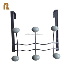 Wholesale home furniture wall mount metal iron 3 coat rack over the door hook