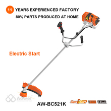 2018 new design electric start 52cc gasoline brush cutter string trimmer