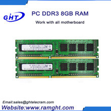 High quality 8GB ram ddr3 memory 1066 1333 1600