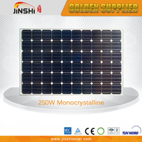 Widely use tempered glass monocrystalline sun power solar panel 250w