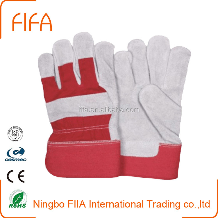 factory directly Palm Leather Gloves Welding Working Cow Split Gloves