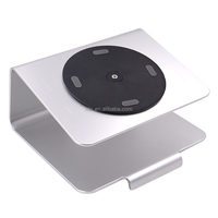 Rotating Silver Aluminum Laptop Desk Stand Holder for Apple Macbook, Notebook, Computer 11 to 17 inch