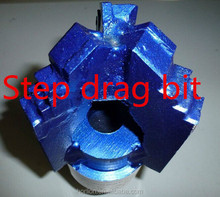 "3 wings 8 1/2"" soft rock drilling step drag bit for sale"