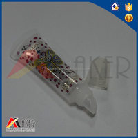 10g Offset printing Clear cosmetic plastic tube for lip gross