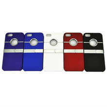 Deluxe Chrome stand Case Cover With Kick Stand for iPhone 5 5G