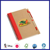kraft cover mini notebooks with pen