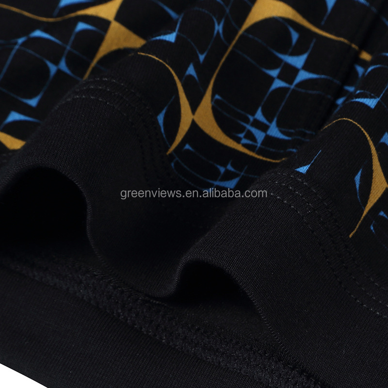 Soft elastic men underwear boxer short reactive print fashion custom mens underwear