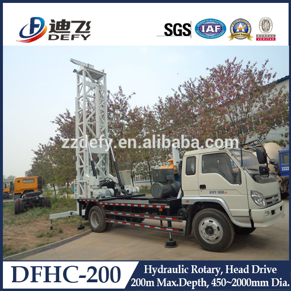 Large truck type cylinder boring machine for geological exploration