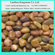 Natural Pebble Stone yellow color river pebble paving