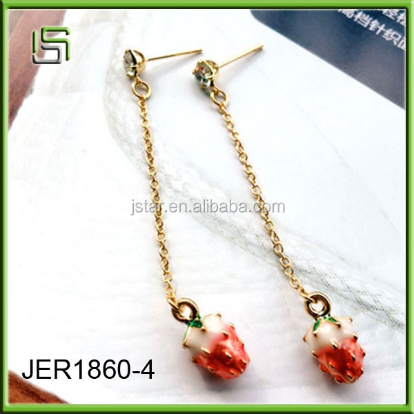 Ladies earrings designs pictures strawberry earrings sweet women earrings jewelry