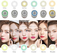 Hot selling Hidrocor 6 Colors Natural Looking Excellent Quality Color Eye Lenses Soft Colored Contact Lens