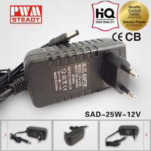 CE EU Wall mounted AC DC 25W 12V 2A Power Adapter 12 Volt 2 Amp Switching Power Supply SAD-25-12