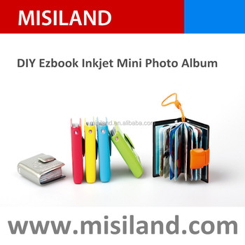 DIY Ezbook inkjet mini photo album