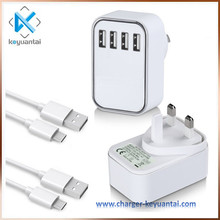 Manufacturing High Quality 100% Original UK Plug Powered Multi USB Port Micro Wall Charger For IPhone