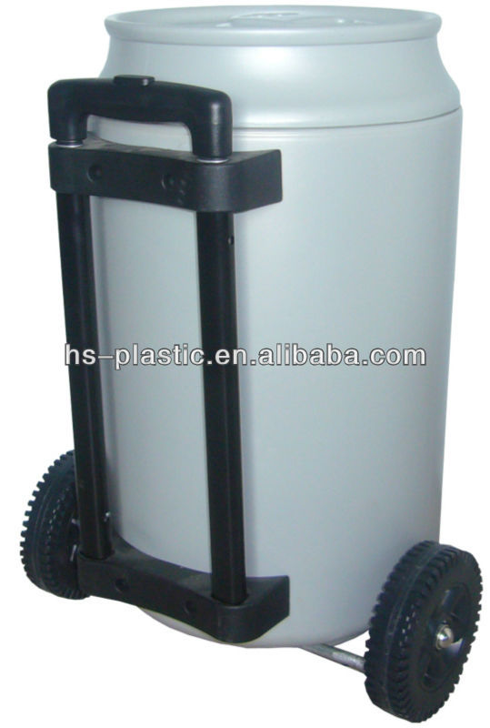 Cans shape cooler bucket with trolley 5 gallon
