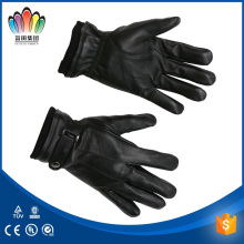 FT FASHION Men's Genuine Sheepskin Glove/Leather glove With Knitted Wrist